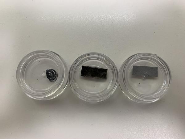 オービトロン用の金属材料のテスト経過