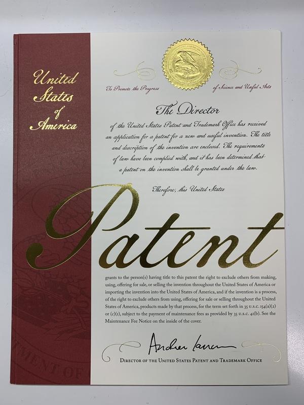 米国でオービトロンに関する3件目の特許が認められました!