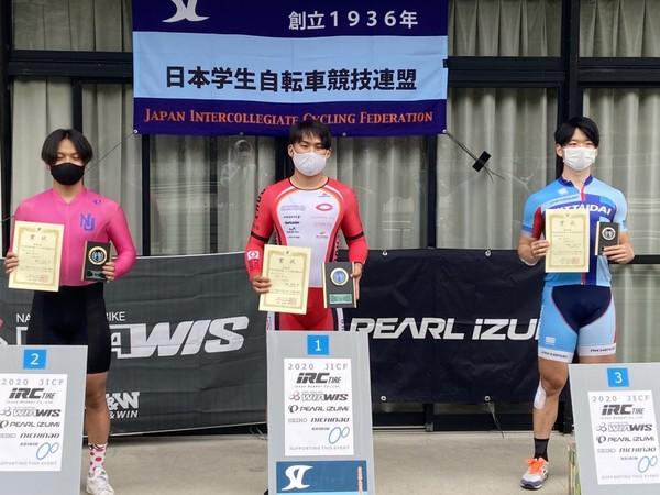 大橋選手、第60回東日本学生選手権トラック自転車競技大会で優勝!